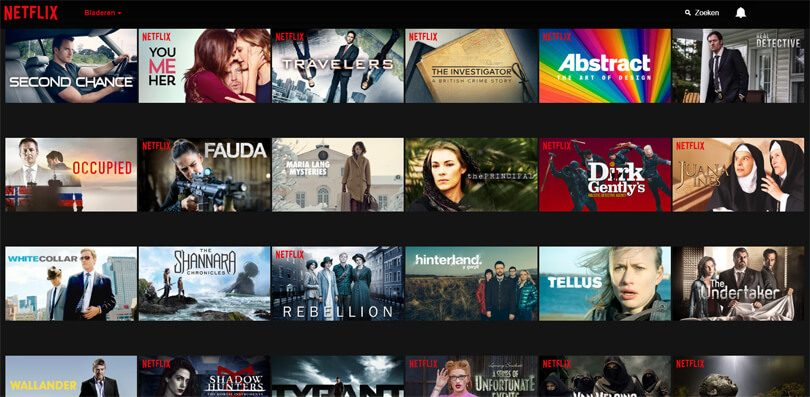 Verschijnen series Netflix Nederland