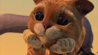 de gelaarsde kat schattig