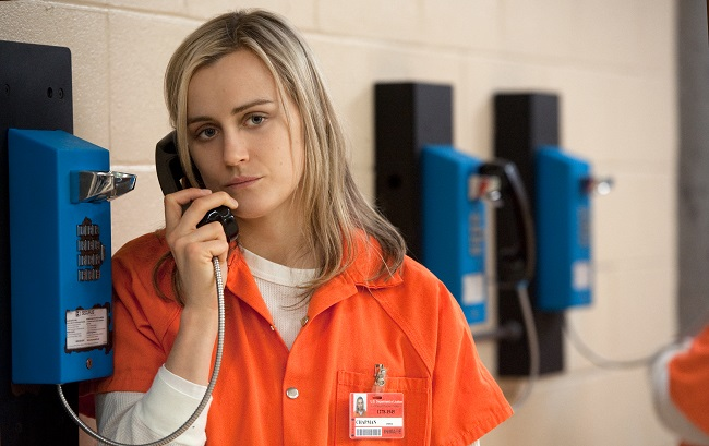 Taylor Schilling in a scene from NetflixÕs ÒOrange is the New BlackÓ Season 2. Photo credit: JoJo Whilden for Netflix