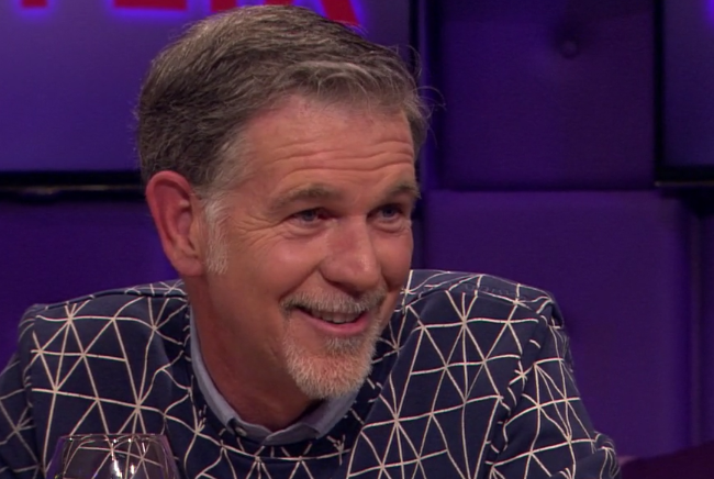 Netflix CEO Reed Hastings wearing Amsterdenim