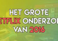 Netflix Onderzoek 2016