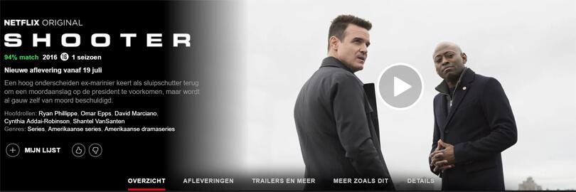 Shooter seizoen 2 Netflix