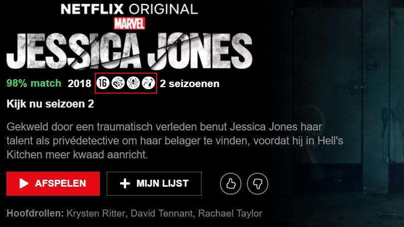 Netflix leeftijdscategorieën