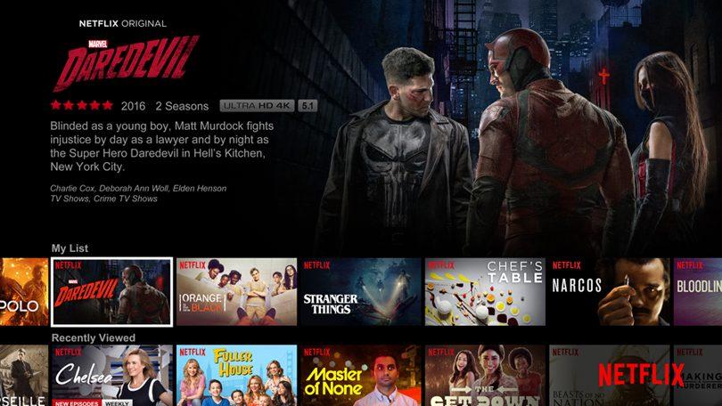 Netflix sneltoetsen