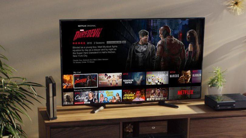 Netflix TV scherm