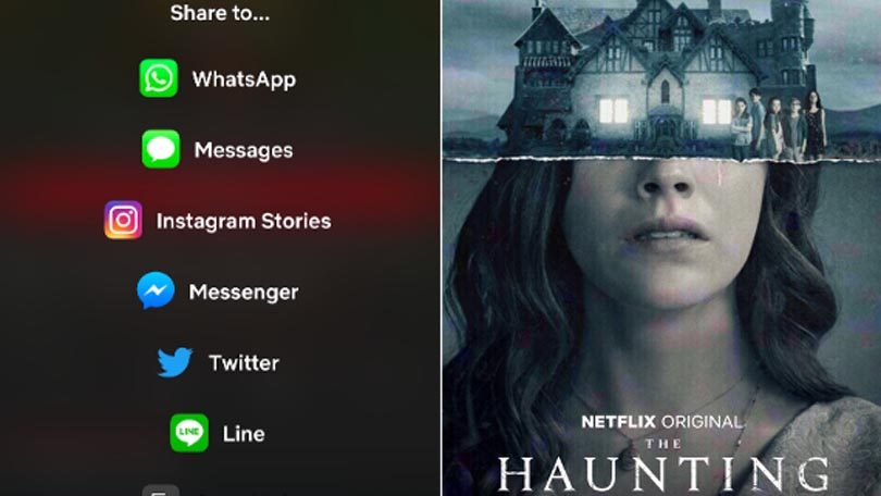 Sharing Netflix Instagram Stories
