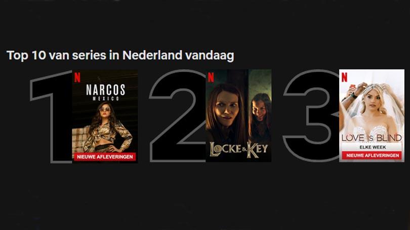 Top 10 Nederland op Netflix